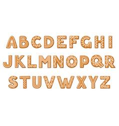 Gingerbread cookies in shape alphabet vector