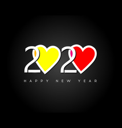 Happy new year 2020 modern bright 2020 text vector