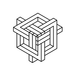 Impossible shapes optical illusion vector