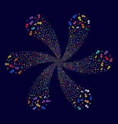Integration centrifugal fireworks vector