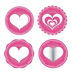Label of Love Symbol vector image