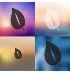 leaf icon on blurred background vector image