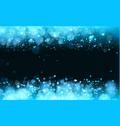 lights on blue background bokeh effect vector image