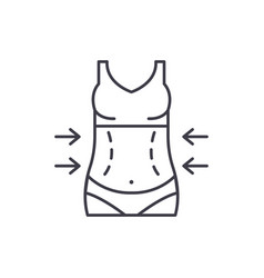 lose weight line icon concept lose weight vector image