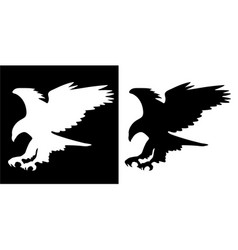 Majestic eagle in flight silhouette vector
