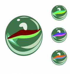 marbles vector image
