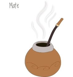 Mate tea calabash vector