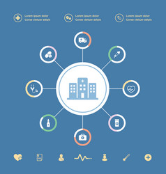 medical icons infographic set vector image