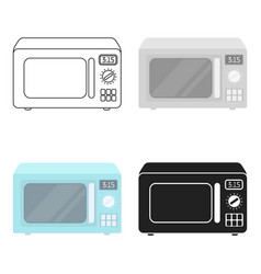 Microwave icon in cartoon style isolated on white vector