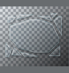 modern concept broken glass on transparent vector image
