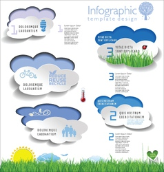 Modern ecology infographic template vector