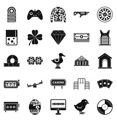 Mood icons set simple style vector