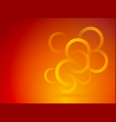 red orange background with yellow circles vector image