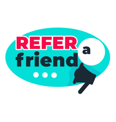 refer friend isolated icon loudspeaker or vector image