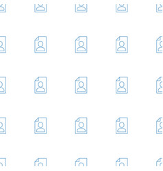 Resume icon pattern seamless white background vector
