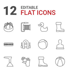rubber icons vector image