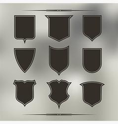 Set nine different forms shields vector