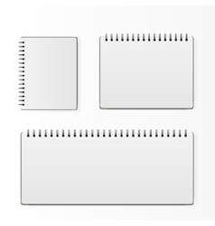 Set of blank realistic spiral notepad notebook vector