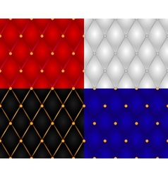 Set seamless casing wall textures vector