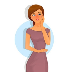 Sick woman character image vector