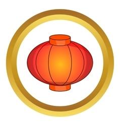 Sky lantern icon vector