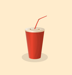 Soda cup vector