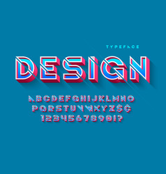 stencil futuristic sci-fi alphabet creative vector image