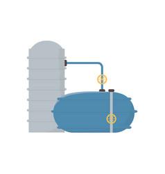 Storage tanks refinery plant oil fracking vector