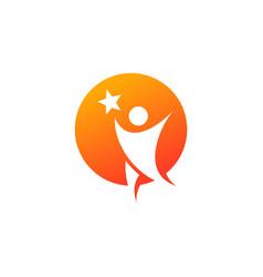 Success people logo design vector