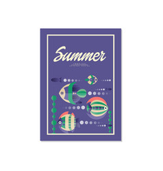 summer banner template orifinal design trendy vector image