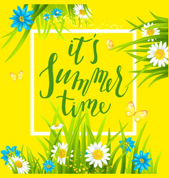 summer time frame vector image