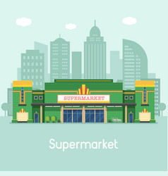 supermarket or grocery store concept vector image