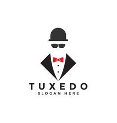 tuxedo logo graphic design template vector image