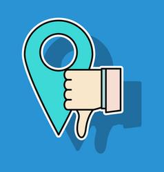 Unlike icon sticker web pointer in eps 10 vector