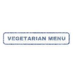Vegetarian menu textile stamp vector