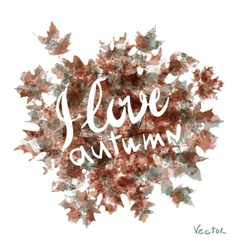 watercolor autumn leaves maple leaf flora vector image