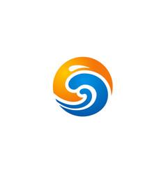 Wave ocean abstract logo vector