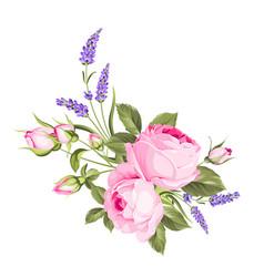 Wedding flowers bouquet color bud garland vector