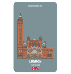 Westminster cathedral in london uk vector