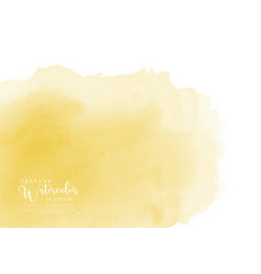 Yellow stain watercolor texture background vector