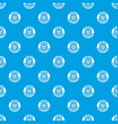 Zombie infection pattern seamless blue vector