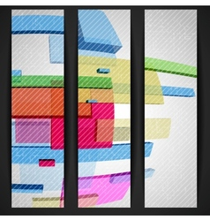 Abstract Rectangle Banner vector image vector image