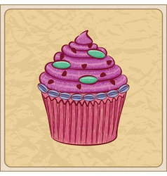 cupcakes01 vector image vector image