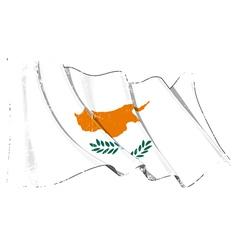 Cyprus Flag Grunge vector image vector image