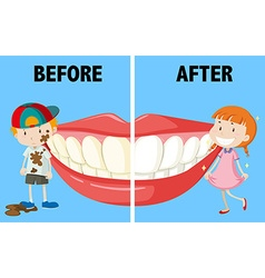 Opposite words before and after vector image