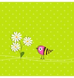 scrapbook bird card template vector image