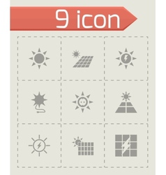 solar energy icon set vector image