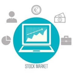 Stock market and exchange vector image vector image
