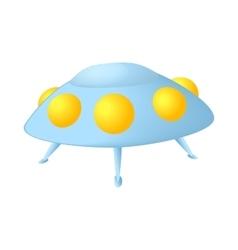 UFO saucer icon cartoon style vector image