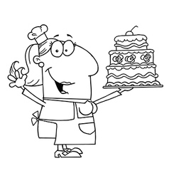 Cartoon baker vector image vector image